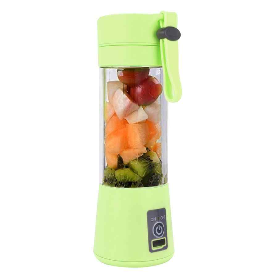 Manual de Espremedor de Frutas espremedor de frutas 380 ml Elétrica USB Handheld Garrafa Xícara De Suco Smoothie Criador Blender transporte da gota 6.15