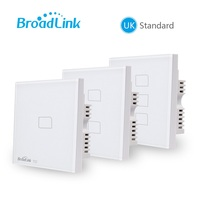 Broadlink TC2 3 Gang Smart Phone Remote Wall Touch Switch UK Standard RF 433MHz Control Lamps