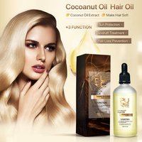 PURC Hair Care Essential Oil Extract Coconut Oil Treatment Hair Loss Prevention Dandruff Dry Make Hair Smooth Soft 100ml