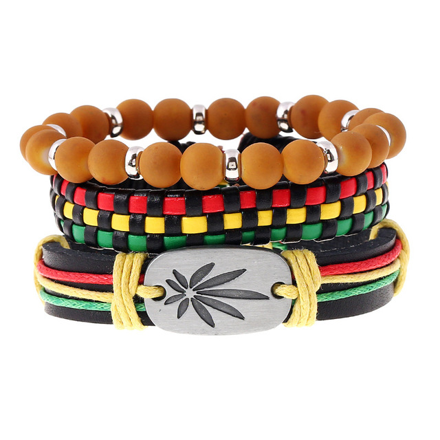 Fashionable Jamaica Bracelet Adjust Size With Elastic Beads Hot Ing Leather Jewelry