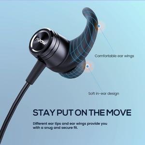 Image 4 - Mpow S10 IPX7 למי אוזניות ספורט Bluetooth 4.1 אוזניות מגנטיות 8H זמן משחק אוזניות עבור iPhone Xiaomi SONY