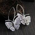 S925 Sterling Silver Jewelry Retro Handmade Thai Silver Earrings Ms. Creative Personality Butterfly Earrings