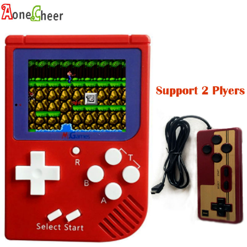 8Bit 2.5inch Retro Handheld Game Player Built in 129 Classic Games External Gamepad for 2 Player Support TV Output Game Consoles