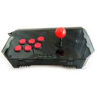 Arcade Rocker Game Joystick Compatible for PS3 for PC With Double Vibration / Shock Functions Arcade Joystick
