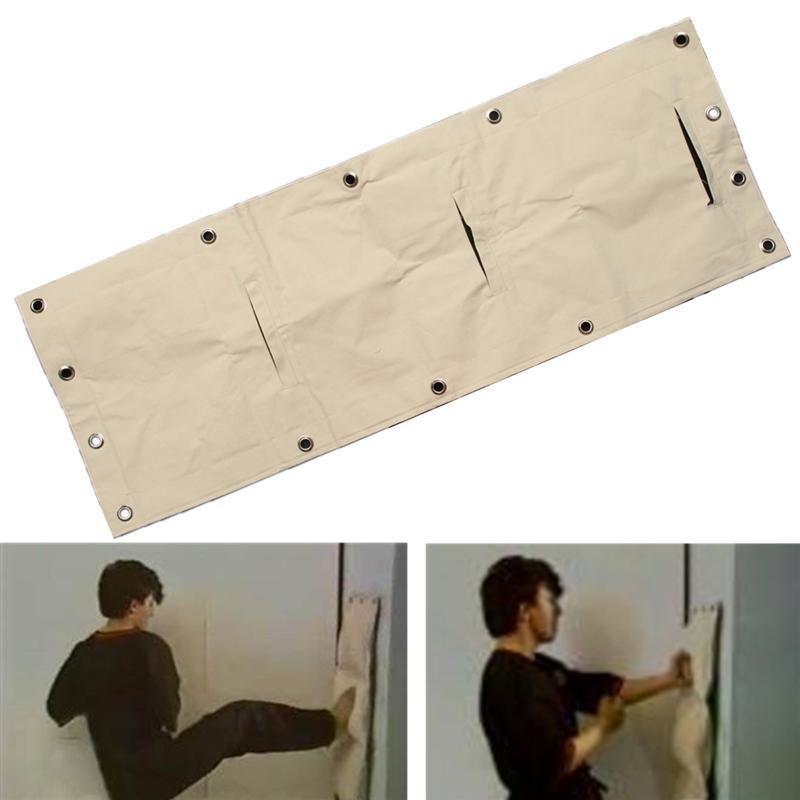 112*40cm Wing Chun Wall Bag  3-Sections Punch Bag Kung Fu Martial Arts Boxing Bag Sand Bag
