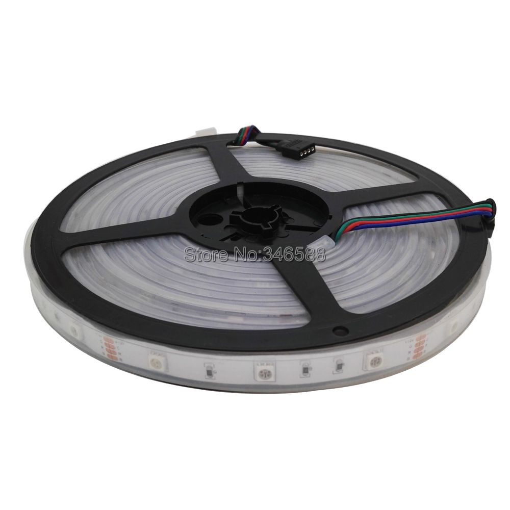 5M 12V 5050 RGB Multi-Color LED Strip Light, IP66 Silicone Waterproof 5050 SMD 30LED/M 150LEDs Flexible LED Tape DC12V 30 LED/M