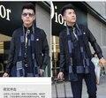 Минималистский новый 2015 Thicken зимы теплый шарф кисточкой бренд бизнес и свободного покроя шелковый шарф мужчины шарф прямая поставка
