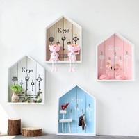Creative Nordic decorative wall hanging storage rack Key box jewelry frame decoration living room wall hanging