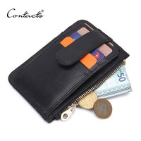Contact S 2016 Brand Design Casual Genuine Leather Card Case Two Style Options Mens Wallets Slim