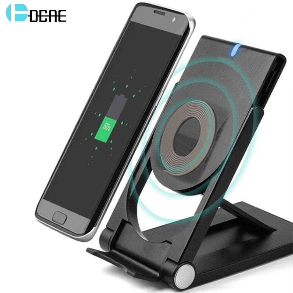 DCAE Qi Sans Fil Chargeur Pour Samsung Galaxy S8 S7 S6 bord Sans Fil de charge Pad Pour iPhone X 8 Plus Nokia Lumia 1520 930 920