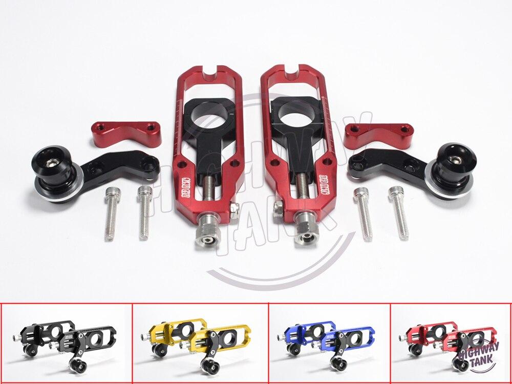 4 цвета все алюминия с ЧПУ мотоцикл Регулятор цепи случая для Aprilia RSV4 2010-2014 10 11 12 13 Регулировка цепи