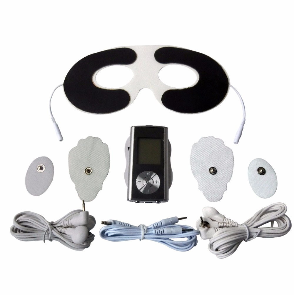 Channels TENS/EMS Digital Therapy Massager For  Full Body Health Care Muscle Stimulator Pain Relief +1Pc Electrode Eye Mask 2017 hot sale mini electric massager digital pulse therapy muscle full body massager silver