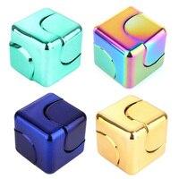 Fidget Cube Spinner Hand Fidget Metal Toy Aluminium 2017 New Cool Fidget Spinners Stress Cube Aluminium