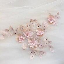 1Piece Beautiful Craft Collar 3d Floral Lace Applique Trim Decorated DIY Lace Neckline Collar Sewing Dress Decor High Quality
