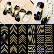 Hot New Nail Sticker Glue 3D Gold Metal Sticker Nail Applique DIY Stereo Tips Manicure Nail Art Decals nail sticker korea 3d nail sticker watermark applique phototherapy nail polish glue flower sticker white big sticker