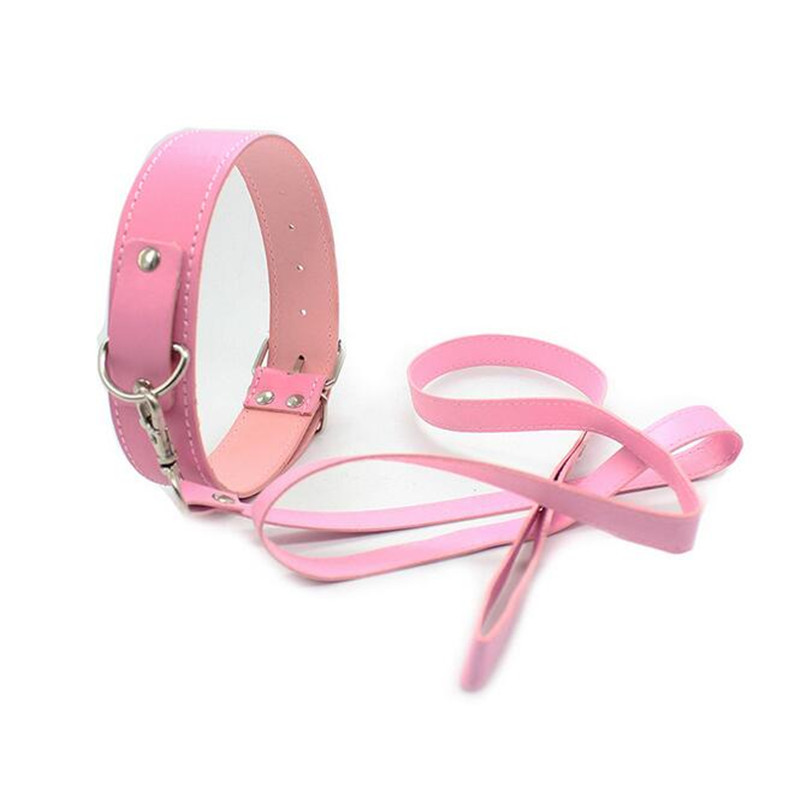 Adult Games Gay Leather Collar Neck Sexy Leash Ring Chain Slave BDSM Bondage Sex Role Play Erotic Toys Sex Toys For Couples Sexo