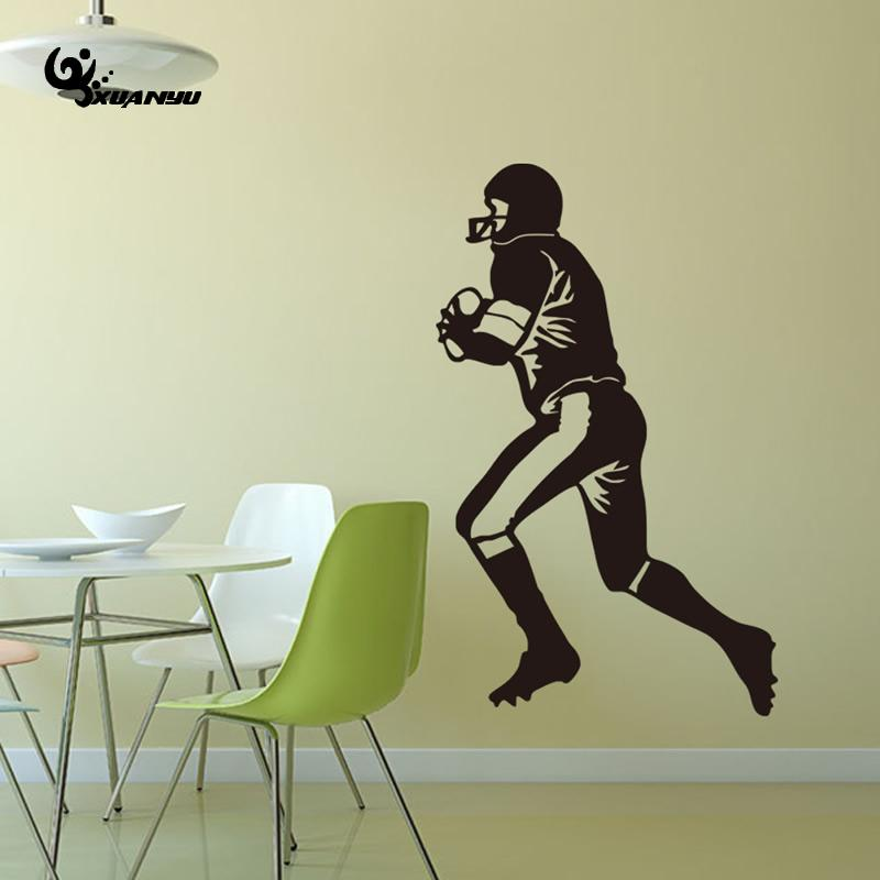 PVC Rugby Players Wall Sticker Poster Stickers For Kids Room Bedroom Wall  Decoration Home Decal 57x90cm In Wall Stickers From Home U0026 Garden On ...