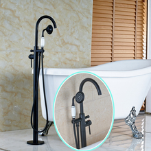 High-grade Bathroom Bathtub Water Taps Oil Rubbed Bronze Floor Mounted Faucet