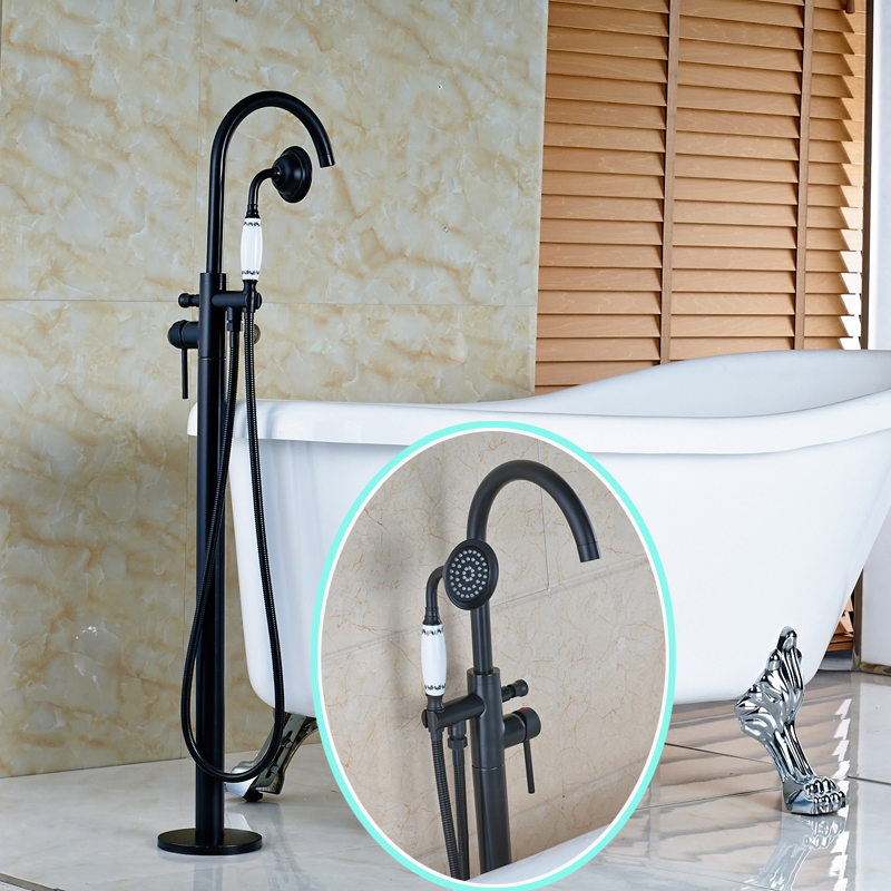floor mount tub faucet oil rubbed bronze. High grade Bathroom Bathtub Water Taps Oil Rubbed Bronze Floor Mounted  Faucet in Shower Faucets from Home Improvement on Aliexpress com Alibaba Group