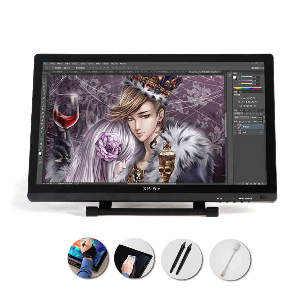XP-PEN 21.5 HD IPS Graphics Drawing Display Painting Screen Dual Monitor Mode Adjustable Stand Pen Disaplay xp pen artist22e fhd ips pen display monitor graphics drawing tablet with 16 express keys