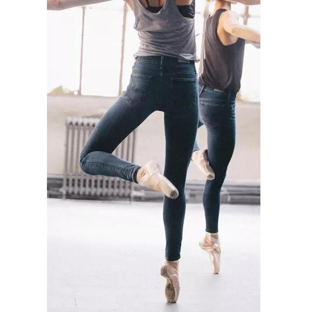 Design da marca Venda Quente das Mulheres calças Jeans Skinny Lápis calças de Brim Das Mulheres Do Vintage Calça Jeans de Cintura Alta Azul Ballet Calças Jeans Fino