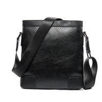 Luxury Brand Men Bag Solid Pattern Leather Messenger Bag Retro Designer Handbag Small Business Briefcase Crossbody