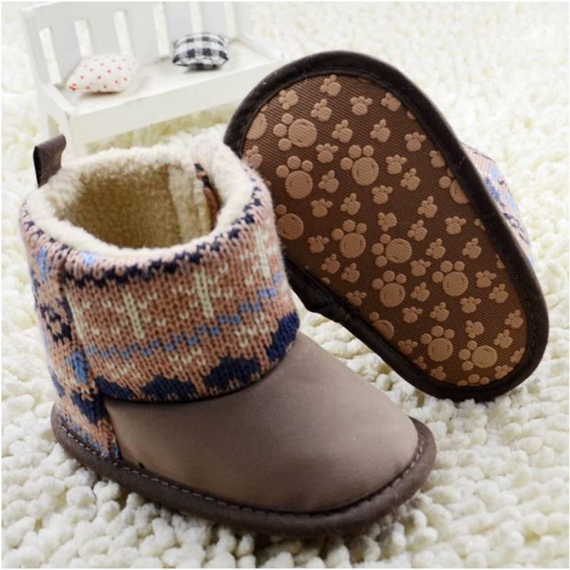 17f5454e0 Moda de invierno niña bebé botines Bebe zapatos Prewalkers fresco botas  cálidas niños calzado 0 18 meses zapatos de bebé del invierno en Primeros  Caminante ...