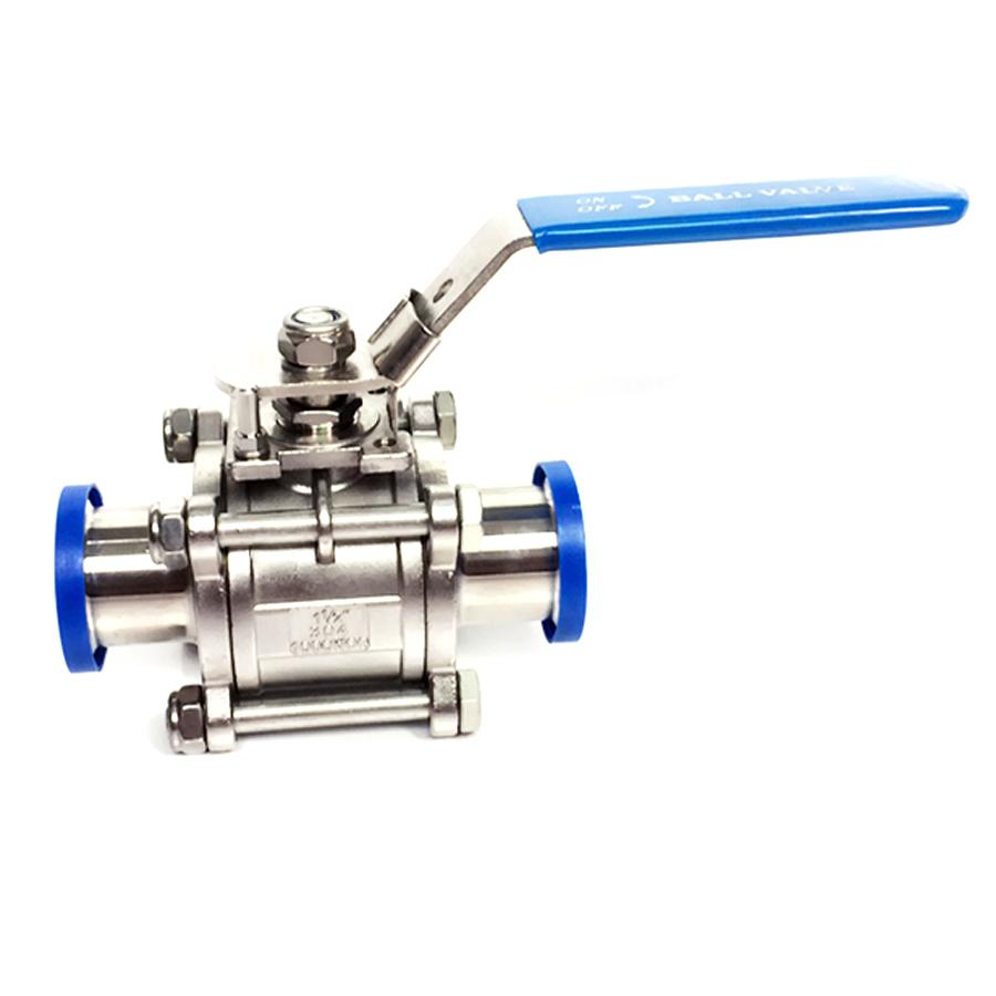 Fit 19mm 3/4 Pipe OD x 1.5 Tri Clamp Sanitary 3-Piece Ball Shut Off Valve SUS 304 Stainless Beer Brewing Home Factory fit 25mm 1 pipe od 1 5 tri clamp ss304 stainless steel 3 piece ball valve