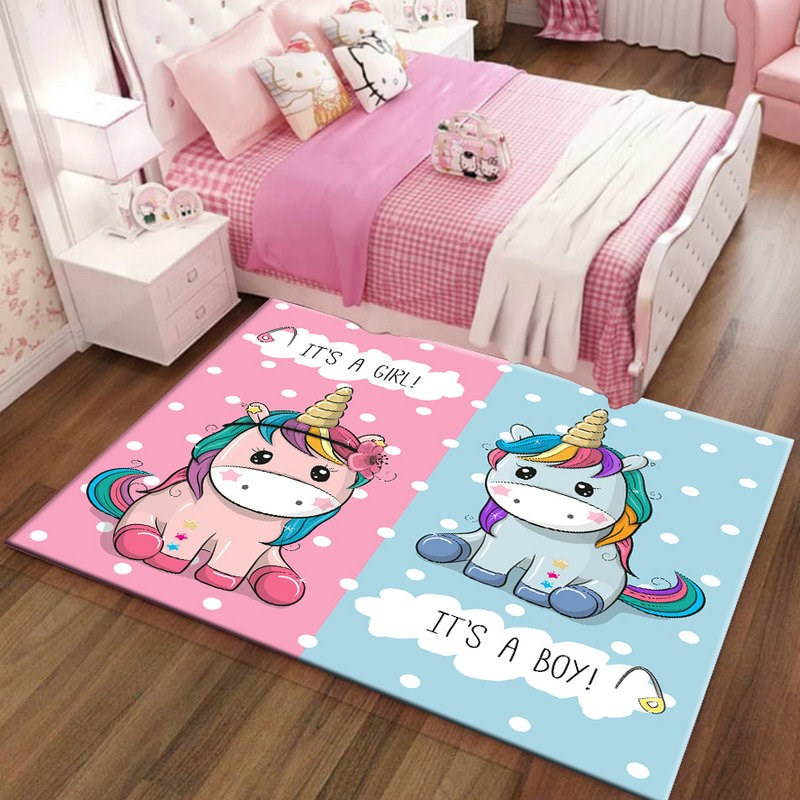 Kids Unicorn Rugs And Carpets For Baby
