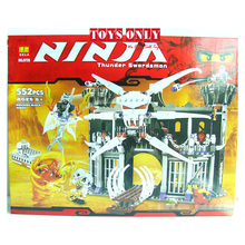Free Shipping 552pcs/set BELA 9735 Ninja Garmadons Dark Fortress Educational Jigsaw DIY Construction Bricks toy