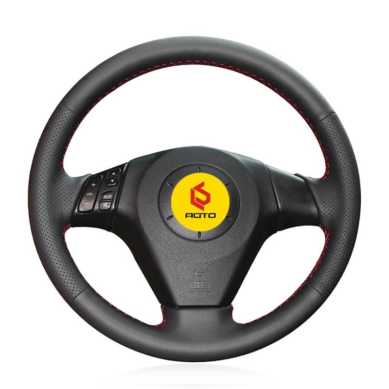 Geflecht auf der Lenkrad Abdeckung für Mazda 3 Axela 2003-2009 Mazda 6 Atenza 2004-2008 Mazda 5 2004-20 Tampa tun volante tun carro