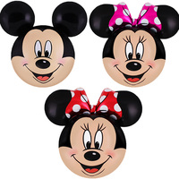 30pcs Large Mickey Minnie head foil balloons baby shower girl boy lovely toys helium globos birthday party decorations kids gift