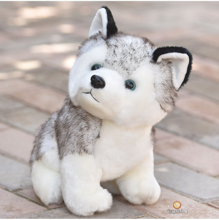 Image 2 - Kawaii Puppy Stuffed Toys 10/20cm Cute Simulation Husky Dog Plush Toys Stuffed Doll Kids Baby Toys Plush Husky Dolls-in Stuffed & Plush Animals from Toys & Hobbies