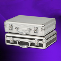free shipping Portable aluminum toolbox instrument case medicine equipment part toolcase Cosmetic Box tool File box packaging