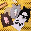 Icecreem do bebê T Shirt 2015 New Arrival Crianças Cinza Pano de Algodão sem mangas Verão tops tees Infantil Bonito Charactor