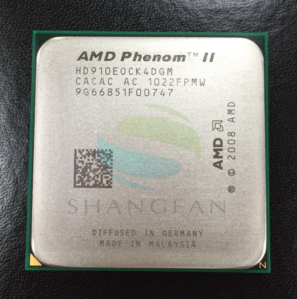 AMD Phenom X4 910E 2.6GHz Quad-Core CPU Processor HD910EOCK4DGM 65W Socket AM3 938pin wavelets processor