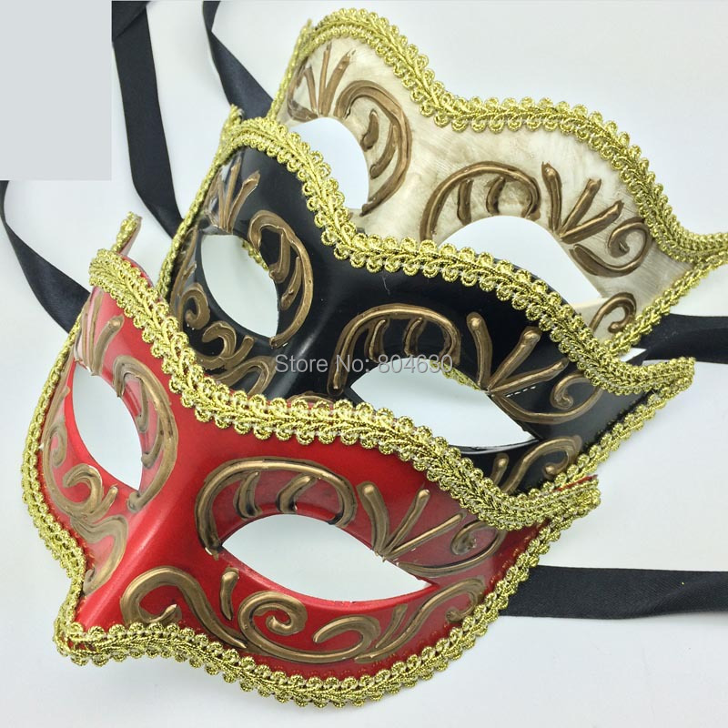 Sexy Masquerade Masks Mardi Gras Costume Venetian Masquerade Ball Decoration Carnival Eye Mask Fancy Prom Dress Red Black Whitein Party Masks From Custom Masquerade Ball Prom Decorations