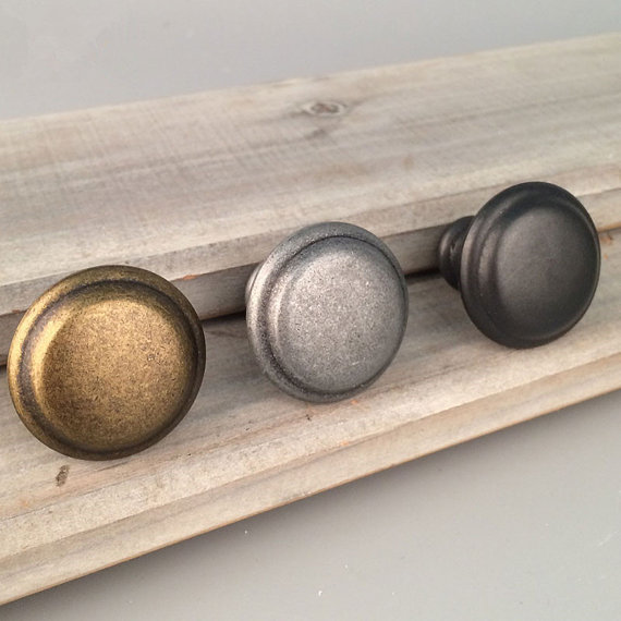 Antique Silver/Black/Brass Drawer Knobs Decorative Cabinet Door Knobs  Rustic Retro Kitchen Knobs