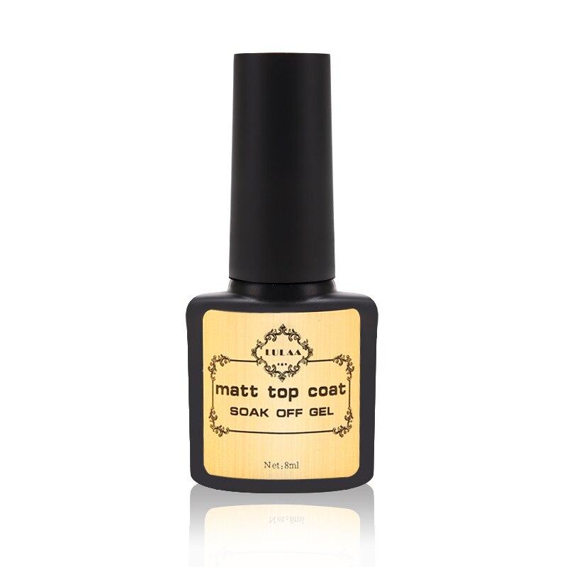 Матовое верхнее покрытие 8 мл, Базовое покрытие, Гель-лак для ногтей, Гель-лак для дизайна ногтей, УФ-светодиодный отмачиваемый многоцелевой ...