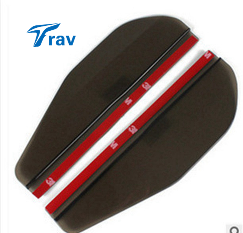 2pc/set Car Rear View Universal Side Mirror Rain Board Sun Visor Shade Shield