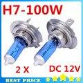 2 PCS H7 12 V 100 W 6000 K H7 Xenon Halogênio Branco Super Lâmpadas de Fonte de Luz Do Carro Auto Faróis lâmpada de Estacionamento de Carros