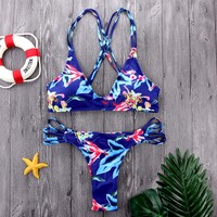 M M 2018 Deep U Bikinis Women Swimwear Bikini Set Summer Beachwear Surfing Bathing Thong Biquinis
