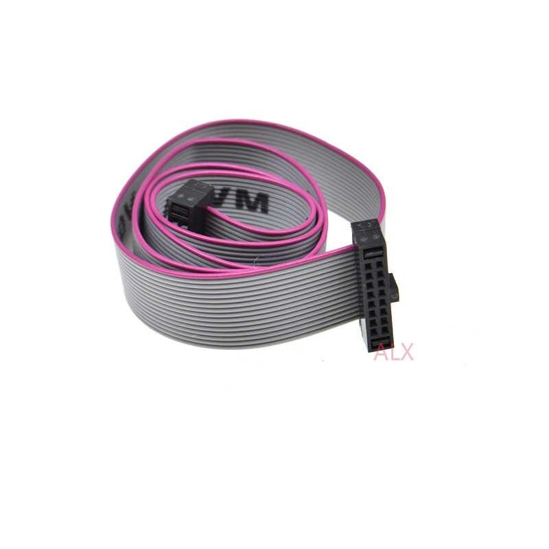 1 PCS 1.27 MM המגרש FC-6/8/10/14/16/20/40/50 פין 30 CM JTAG ISP להוריד כבל אפור סרט שטוח כבל נתונים עבור DC3 IDC תיבת כותרת