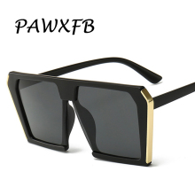 PAWXFB 2019 Newest Oversized Square Sunglasses Women Luxury Brand Designer Black Sun Glasses Female Vintage Shades Eyewear