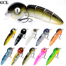 152mm Multi Jointed Fishing Lures Floating Tadpole Durable Fiber Link Swimbait Tackle Bait Wobblers