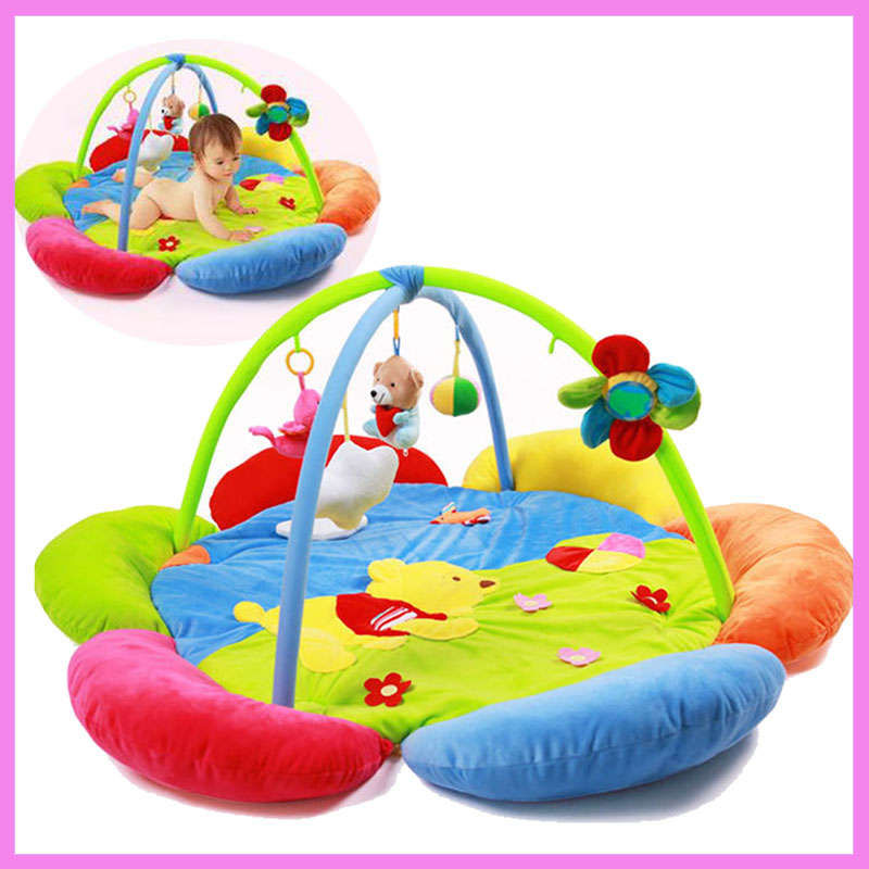 Infant Baby Game Blanket Toys Bundle Crawling Baby Game Mat Toy Blanket Baby Gym Floor Playmat Carpet Kids Activity Play Mat