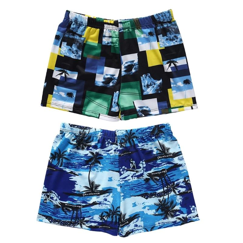 Men Elastic Printed Swimming Trunks Swim Pool Sport Briefs Swimwear Boxer Beach Trunks Swimsuit