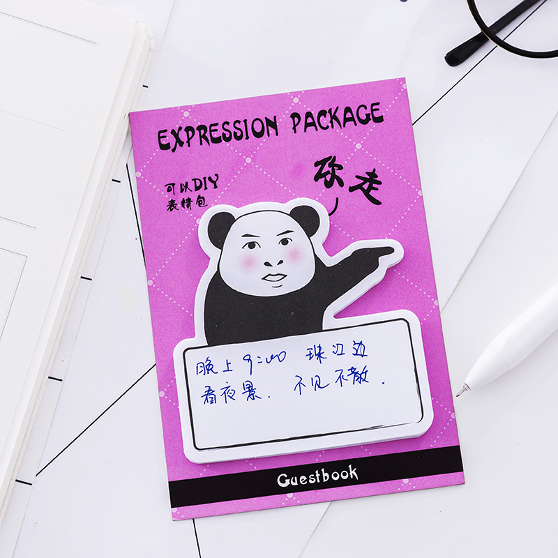 4 set lot personal expression pack stickers cute cartoon creative memo pad notepad note paper post it writing scratch pads in memo pads from office