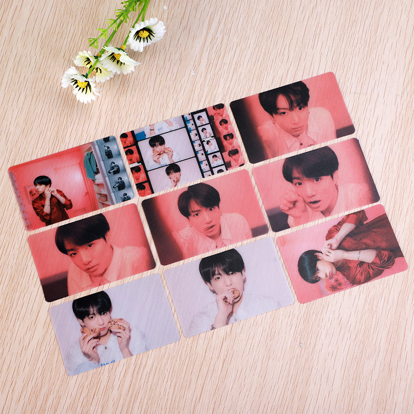 Women's Clothing Map Of The Soul Persona Bangtan Boys New Album Return Portrait Characte Transparent Photos Scrub Cards Clear 9pcs/set K-pop