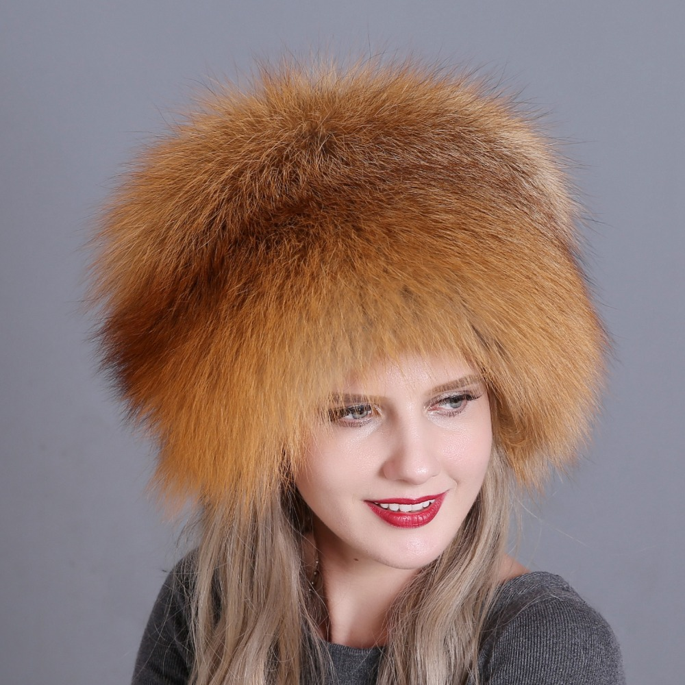 Image 5 - Hat Women's Winter Skullies Women Cap Warm Fur Pompom Thick Natural Fox Fur Cap Real Fur Hat Women Knitted Hat Female Cap-in Women's Skullies & Beanies from Apparel Accessories